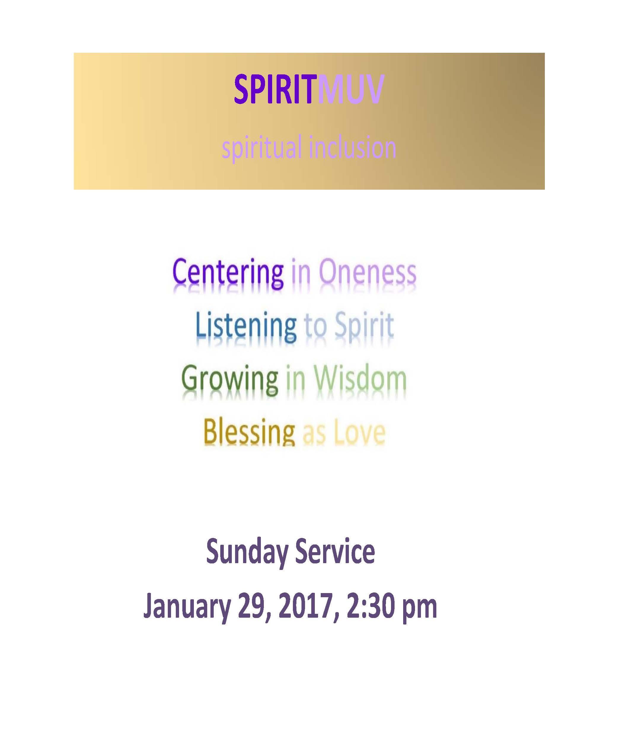 SPIRITMUV – Spiritual Renewal (MIND, BODY and SOUL) Jan 29, 2017